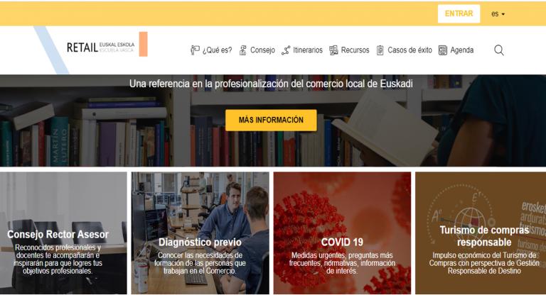 Retail Euskal Eskolak bere ate birtuala ireki dio merkataritzari