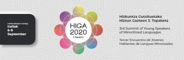 HIGA, el encuentro de jóvenes hablantes de lenguas minorizadas, a celebrar en septiembre de 2020, se suspende y, de momento, se pospone hasta 2021