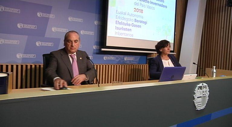 Euskadi reduce sus emisiones de gases de efecto invernadero un 4% en un año, según el último inventario