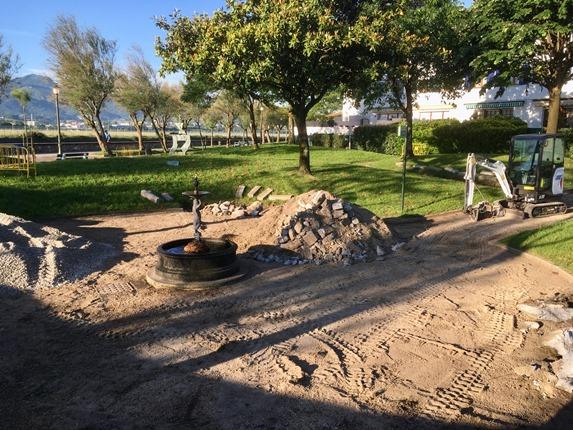El Ayuntamiento de Hondarribia realiza obras de mejora en el parque de Pierre Loti