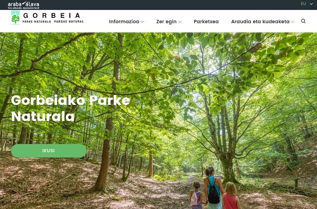 Parke naturalen web orri berria