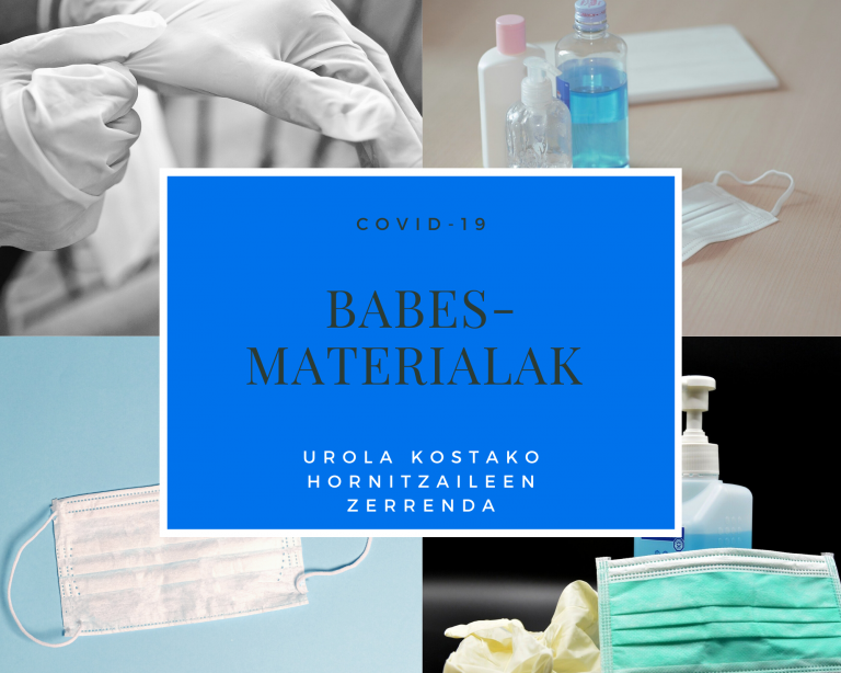 Babes-materialen Urola Kostako hornitzaileen zerrenda eskuragarri