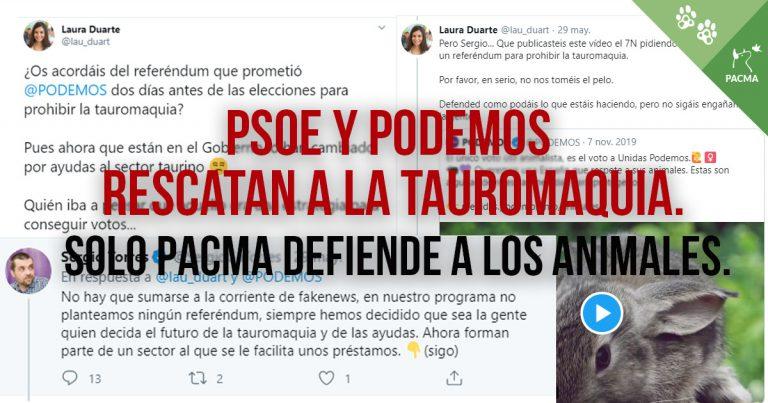¡VERGONZOSO! El Gobierno rescata a la tauromaquia con ayudas culturales